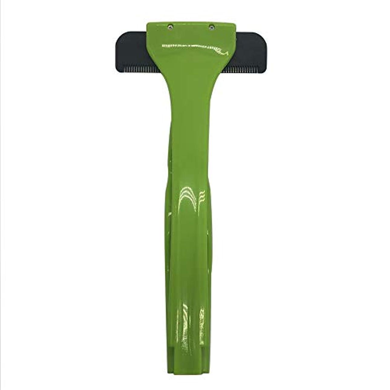 バックヘアーボディシェーバーかみそり、2019年更新バージョン拡張滑走剃刀安全スリップ防止ハンドル付きスリップ防止ハンドル