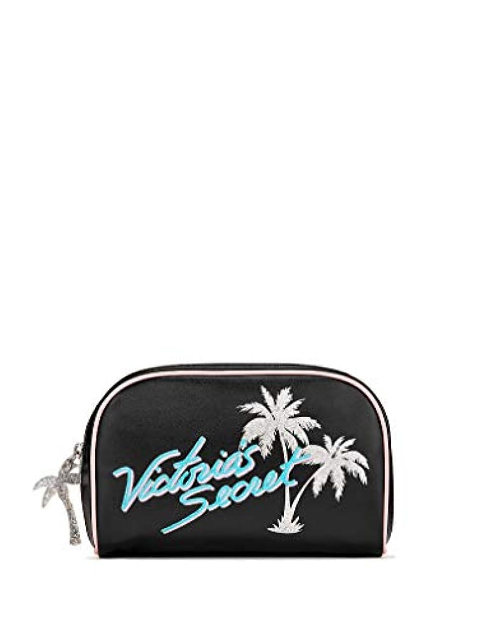 特異なスリーブ装置Victoria's Secret ヴィクトリアシークレット パームツリー トラベル用 化粧ポーチ ブラック シルバー [並行輸入品]