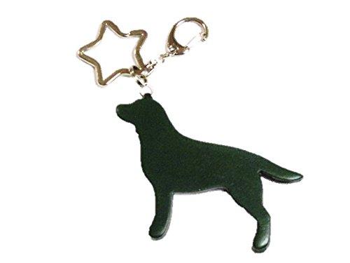 [해외]래브라도 * 가죽 * 열쇠 고리 * ~ (모스 그린 & 실버 색상)/Labrador * Leather * Keyring * - (Moss Green & Silver Color)