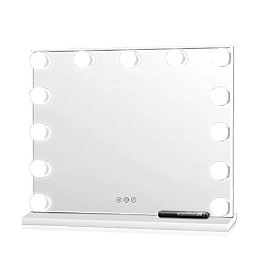 頻繁に関係私明るいデスクトップの大きなメイクアップミラーHDの洗面化粧鏡のライトホームハリウッドスタイルのミラーキットバスルームの化粧テーブルミラー調光ライトセット
