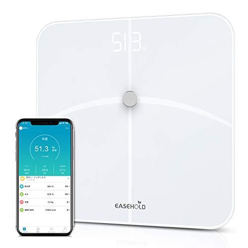 体重計 体組成計 体脂肪計 【2019進化版】 高精度 ITO&BIA技術 体脂肪/体水分/筋肉量/BMIなど18項健康指標 赤ちゃんの体重計算可能 iPhone/Androidアプリで健康管理 APPLE,GOOGLE,FITBITと同期可能