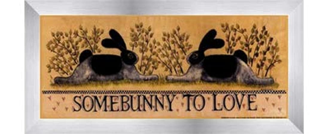 とげ文明化コードsmall-somebunny to Love by Lisa Hilliker – 12 x 5インチ – アートプリントポスター LE_614045-F9935-12x5