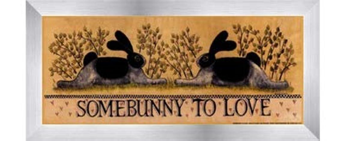 ふりをする物理褐色small-somebunny to Love by Lisa Hilliker – 12 x 5インチ – アートプリントポスター LE_614045-F9935-12x5
