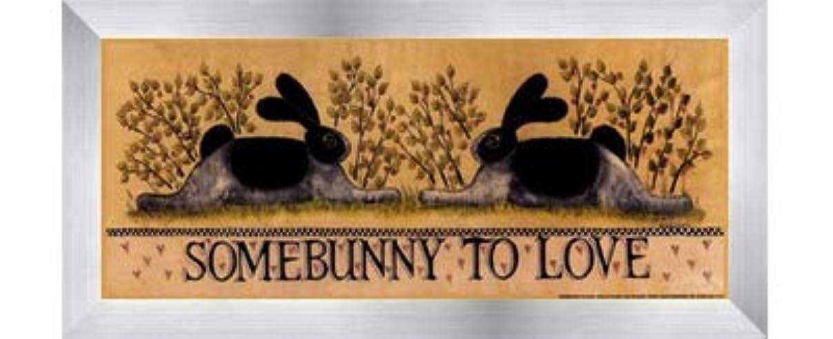 検索エンジン最適化スローガン洋服small-somebunny to Love by Lisa Hilliker – 12 x 5インチ – アートプリントポスター LE_614045-F9935-12x5