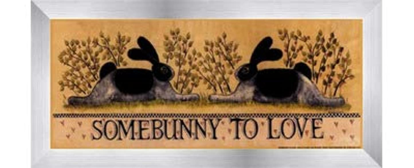 ポータブル空洞水を飲むsmall-somebunny to Love by Lisa Hilliker – 12 x 5インチ – アートプリントポスター LE_614045-F9935-12x5