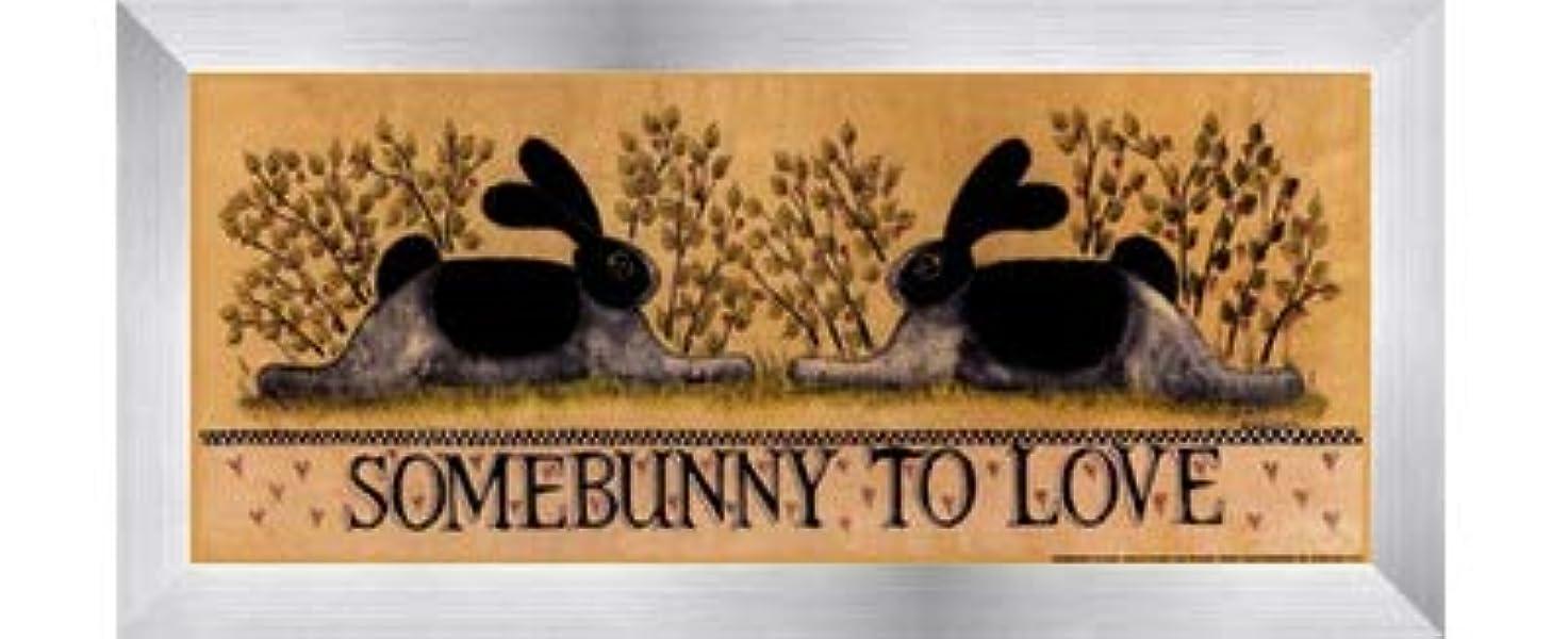 無しすり減るアドバンテージsmall-somebunny to Love by Lisa Hilliker – 12 x 5インチ – アートプリントポスター LE_614045-F9935-12x5