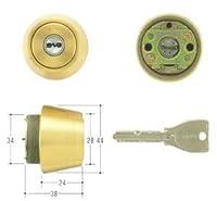 MIWA(美和ロック) PRシリンダー LSPタイプ TE24 鍵 交換 取替え MCY-231 LSP/SWLSPゴールド色(BS)30~40mm