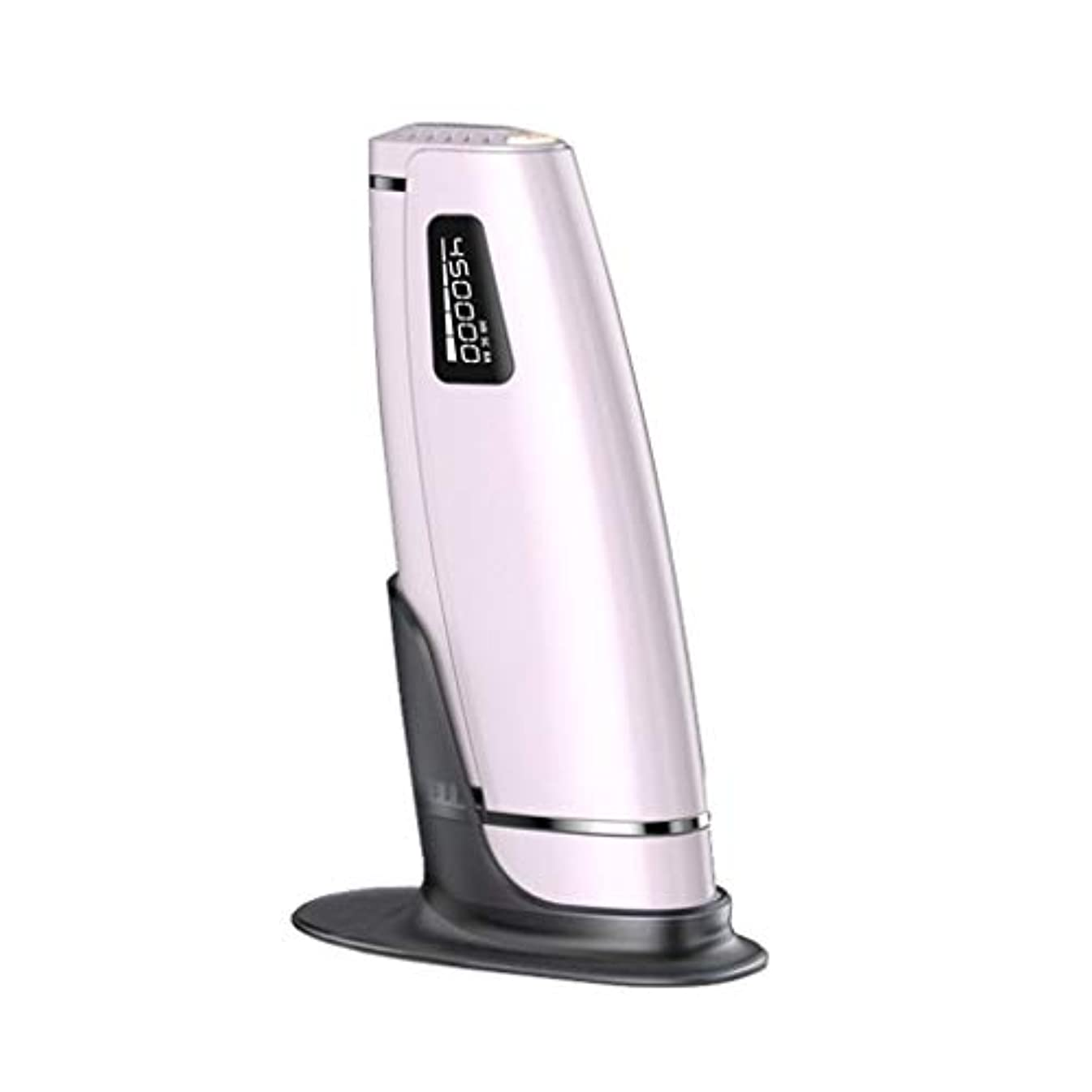 けん引マインド証言女性のためのIPL脱毛装置、永久的な痛みのない脱毛器、体のレーザー美容器具、顔、ビキニ&脇の下、5レベルの評価 (色 : ピンク)