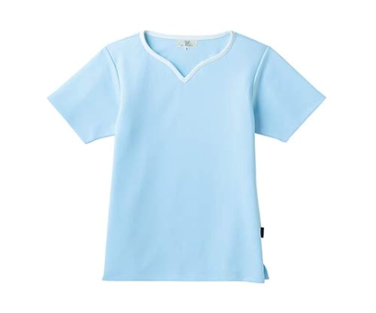 ブルジョン排泄する規定トンボ/KIRAKU レディス入浴介助用シャツ CR161 L サックス
