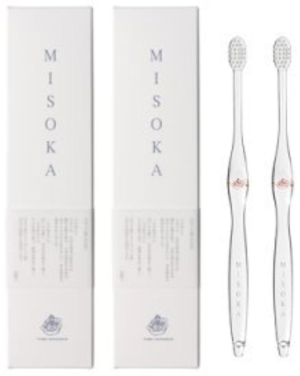 その結果フィッティング近似MISOKA(ミソカ) 歯ブラシ 朱色 2本セット