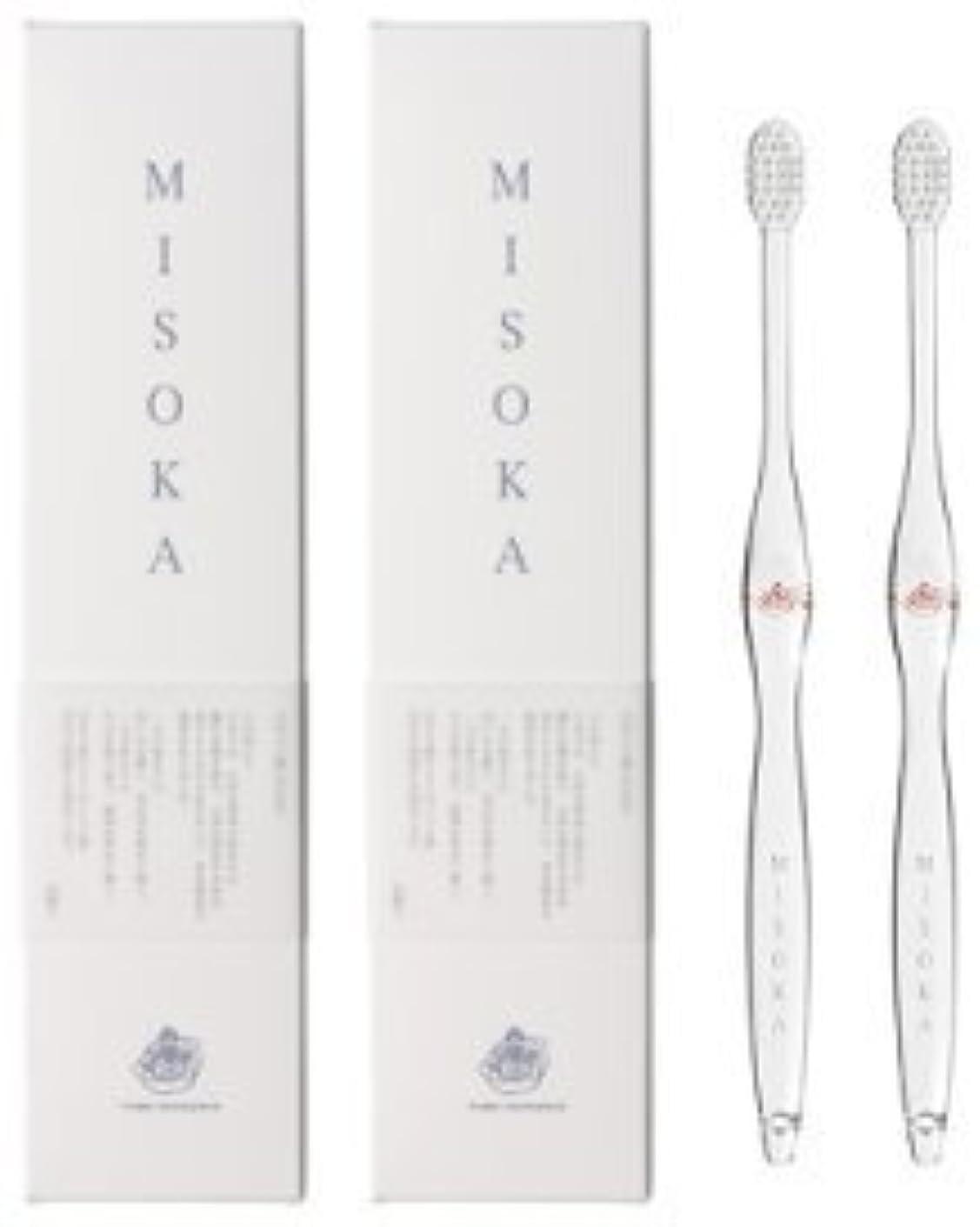 アルバム無秩序推論MISOKA(ミソカ) 歯ブラシ 朱色 2本セット