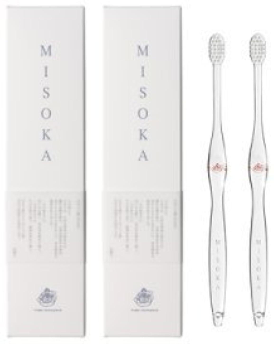 割れ目広告連邦MISOKA(ミソカ) 歯ブラシ 朱色 2本セット