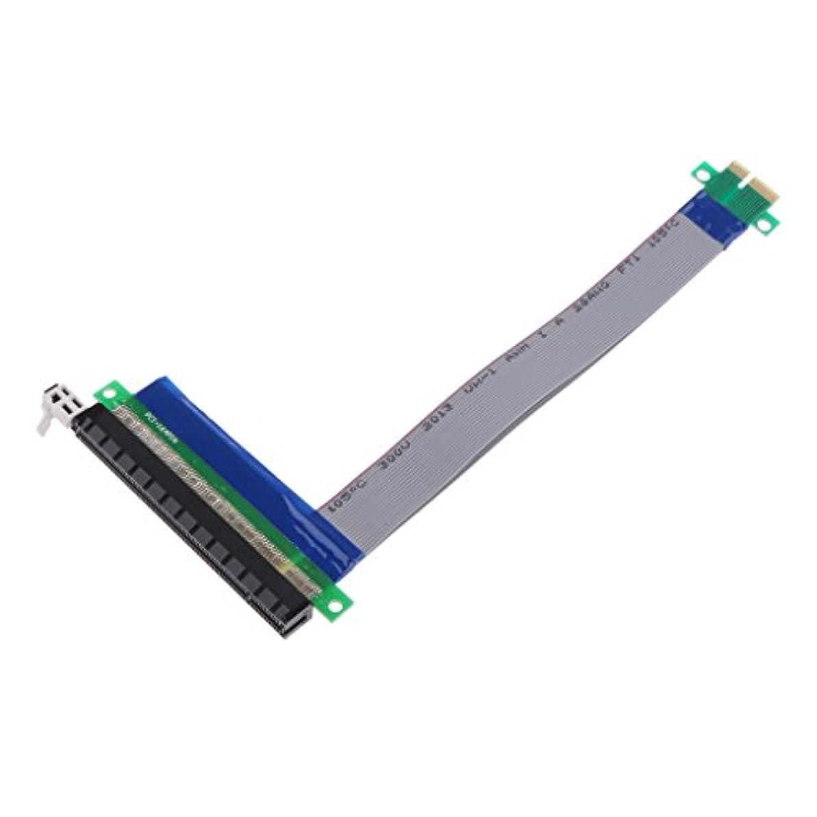大通り間隔領域Sharplace ABS +銅線 PCI-E 1x→ 16x ライザー カード リボン エクステンダー 拡張ケーブル カード アダプター