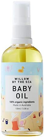 Baby Oil - 100% Certified Organic - All Natural Moisturising and Baby Massage Oil - by Willow by the Sea