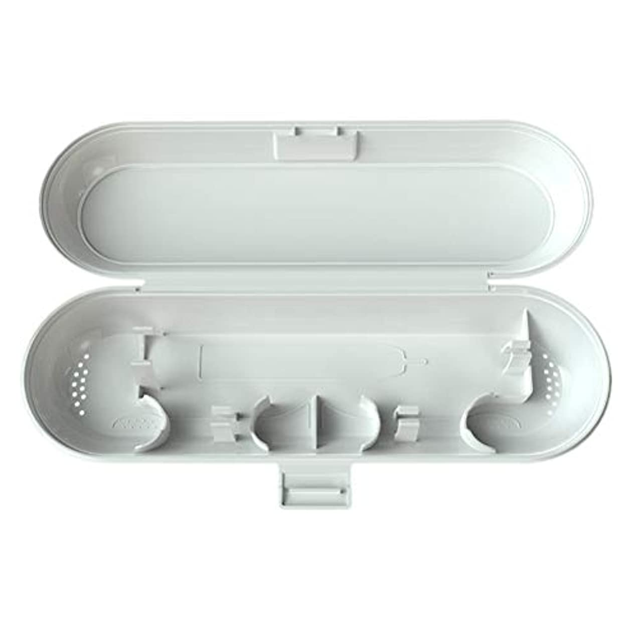 膜長老義務TOPBATHYポータブルプラスチック製電動歯ブラシケースキャンプ用トラベルブラシトラベルボックス(ホワイト)