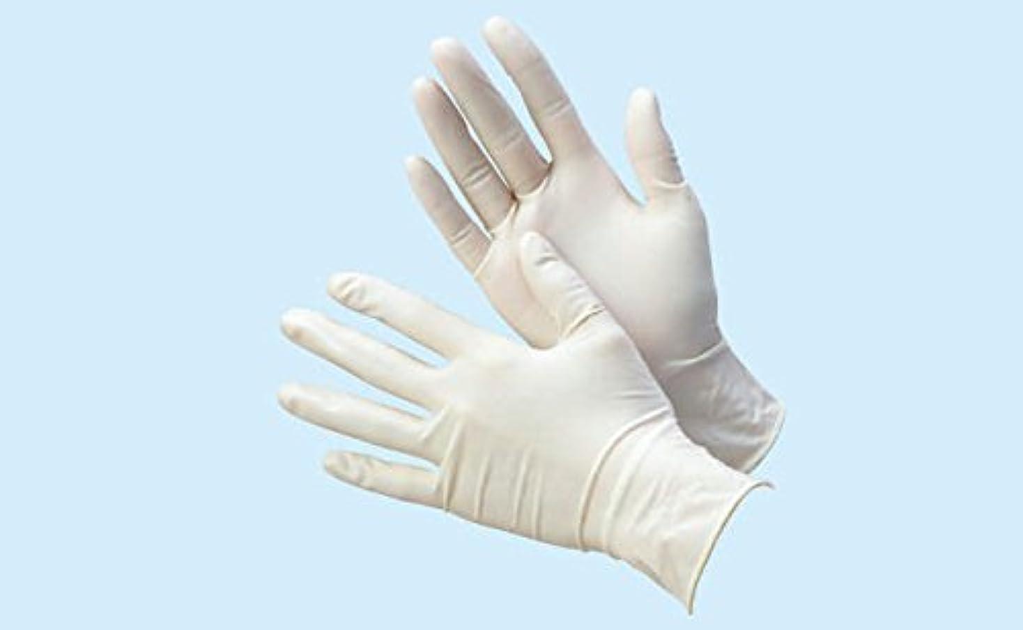 印刷するマーティフィールディング単調な天然ゴム極うす手袋 パウダー付 100枚入 S 08866