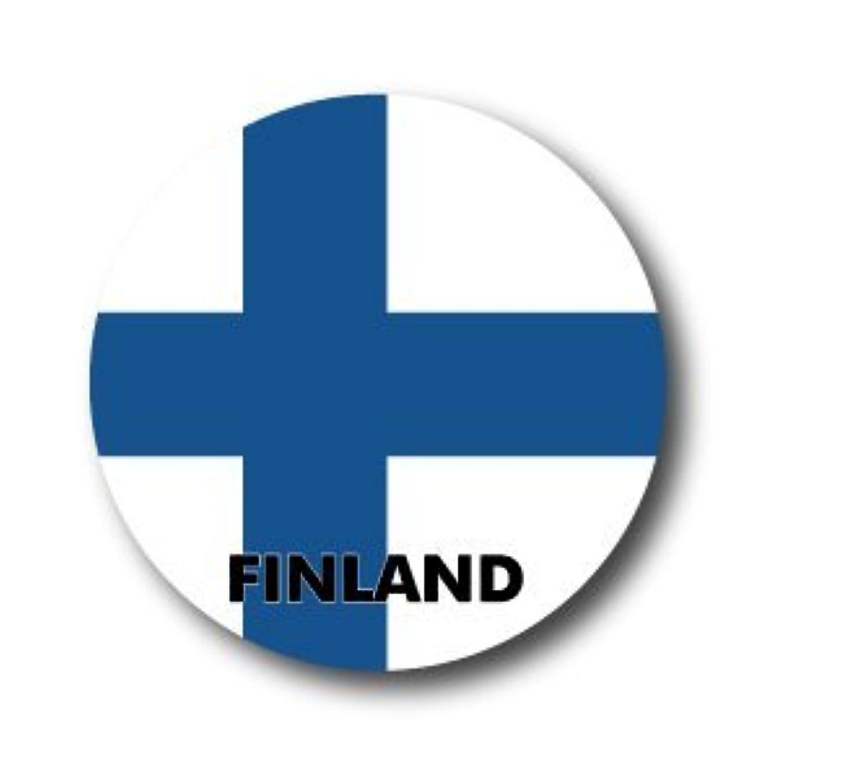 CBFG-049 FINLAND フィンランド 国旗缶バッジ WORLD FLAG EDITION 缶バッジ