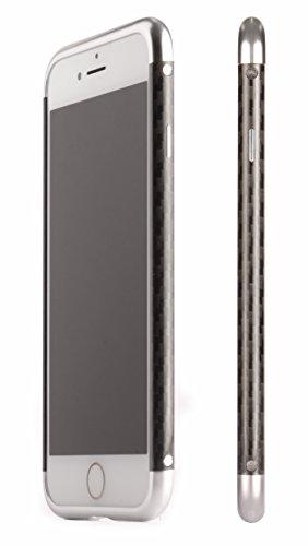 iPhone8 アルミ製メタルバンパー【SWORD】炭素繊維 カーボンファイバー ハイブリッドケース 最新型【純正・真正品】 (iphone8, シルバー)