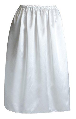 (ペチコート屋) 透けないサイズ自由のペチコート 70cm丈 (ウエストは58cm~93cm) ホワイト