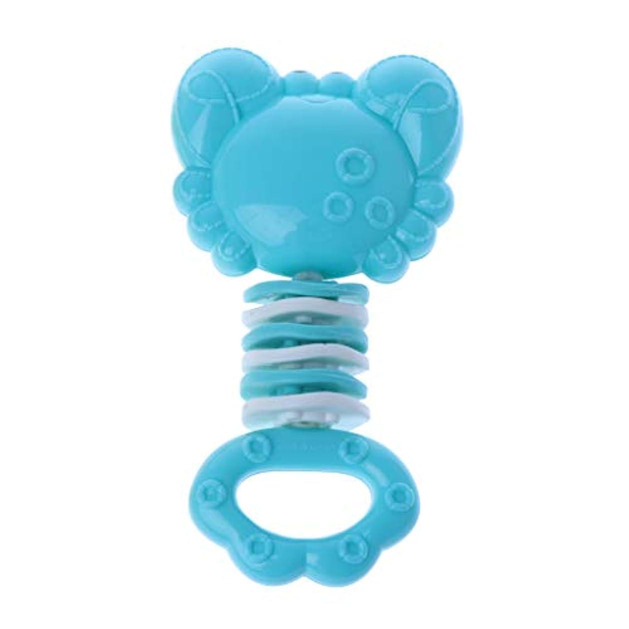 死にかけている手がかり乱暴なLanddumシリコーン歯が生える癒しのおもちゃ赤ちゃんのおしゃぶりスティック固体の歯の赤ちゃんのガラガラのおしゃぶり玩具グッタ臼歯バーベル - カニ