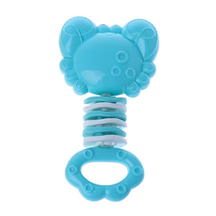 中央値歩き回るマーカーLanddumシリコーン歯が生える癒しのおもちゃ赤ちゃんのおしゃぶりスティック固体の歯の赤ちゃんのガラガラのおしゃぶり玩具グッタ臼歯バーベル - カニ