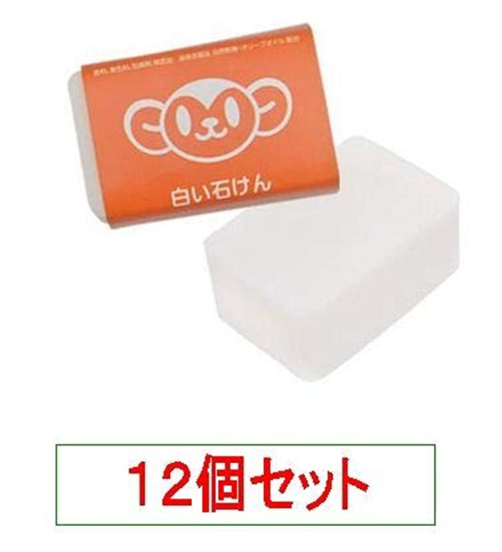 検出効率保護ハイム むーくんシリーズ 白い石けん 120g<無添加の洗顔、入浴用>X12個セット