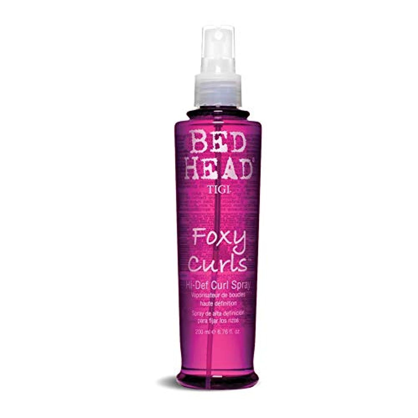TIGI Bed Head Foxy Curls Hi-Def Curl Spray 200ml (並行輸入品)