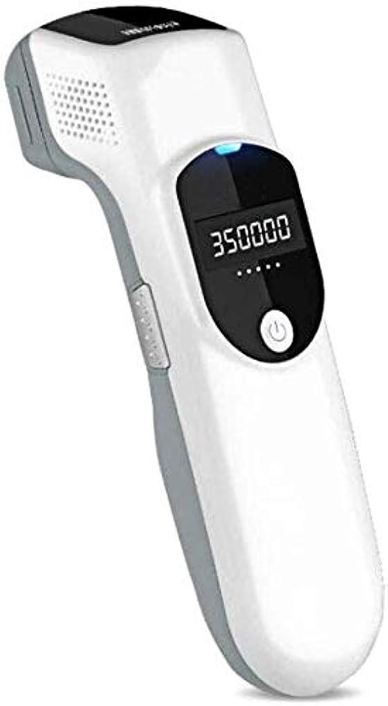 汚染された住居衛星HABAIS 脱毛装置に、皮膚の若返りデュアル使用ハンドヘルドアイスポイント女性と男性のための顔と体の永久的なレーザー脱毛 ビキニライン/足/腕/脇の下,White