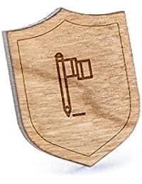 Flagshipラペルピン、木製ピンとタイタック|素朴な、ミニマルGroomsmenギフト、ウェディングアクセサリー