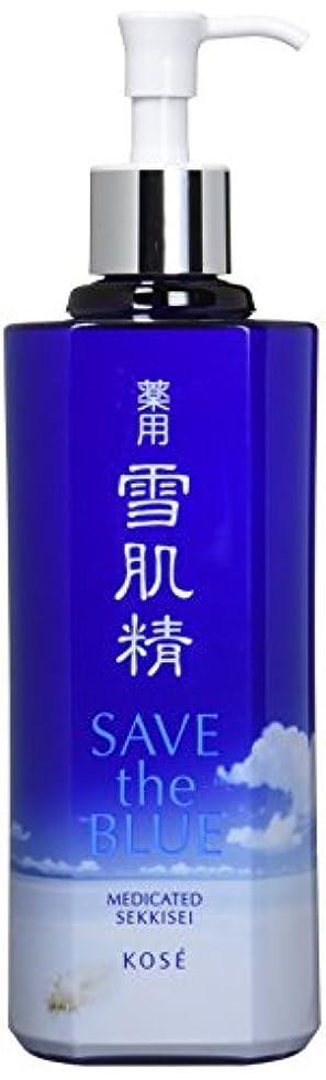 談話花に水をやるで出来ているコーセー 雪肌精 化粧水 「SAVE the BLUE」デザインボトル 500ml【限定】