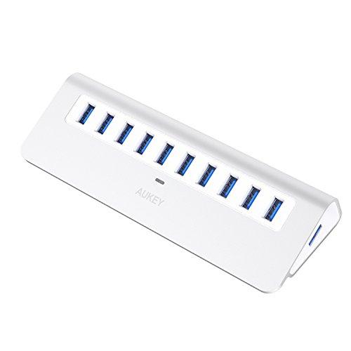 AUKEY USB3.0 ハブ 10ポート セルフパワー CB-H6