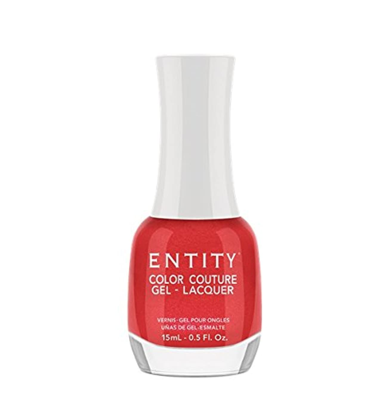 負荷分割皿Entity Color Couture Gel-Lacquer - Red Rum Rouge - 15 ml/0.5 oz