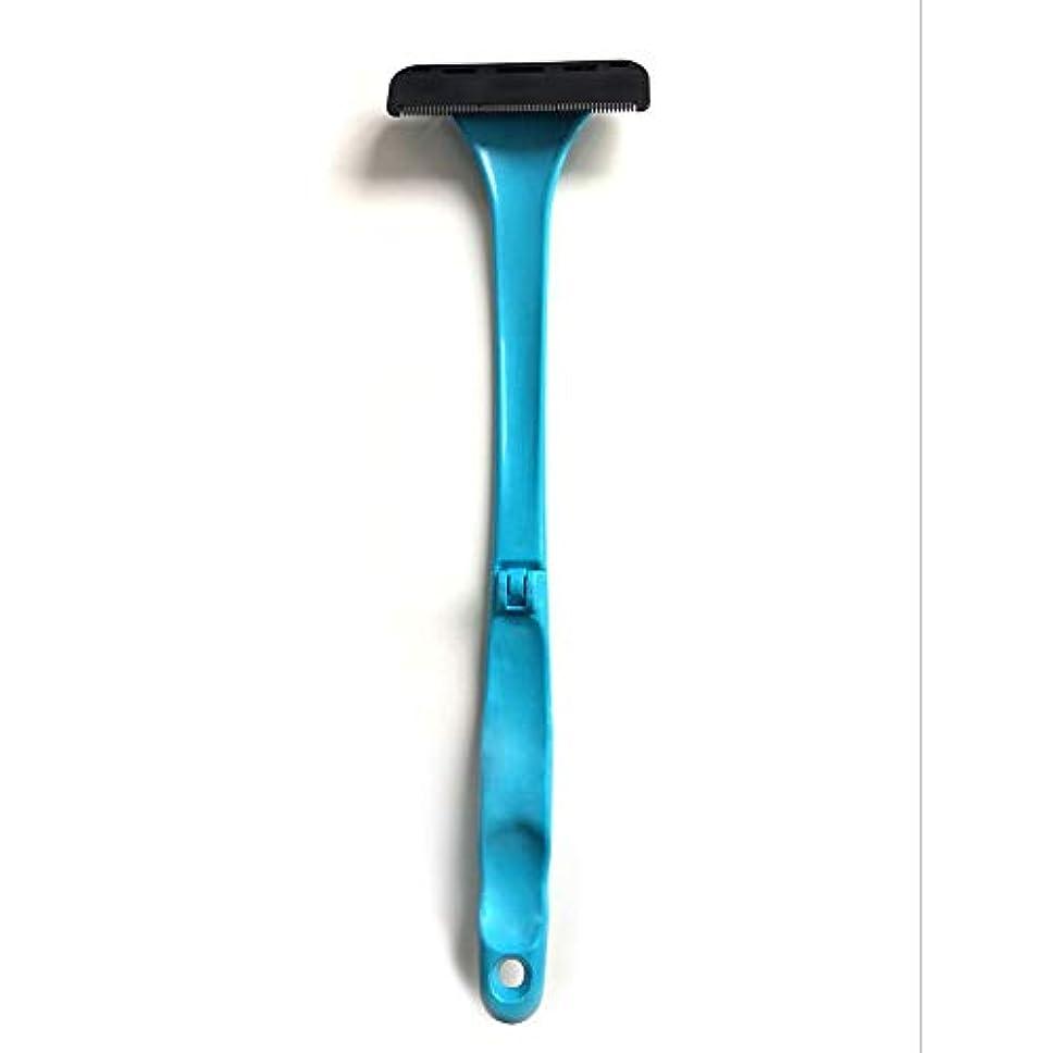 浸す並外れて明日男性用バックヘアーシェーバー2019更新バージョンマニュアル全身ヘアーロングハンドル折りたたみ式ヘア痛みのない湿式または乾式剃毛用カミソリを削除