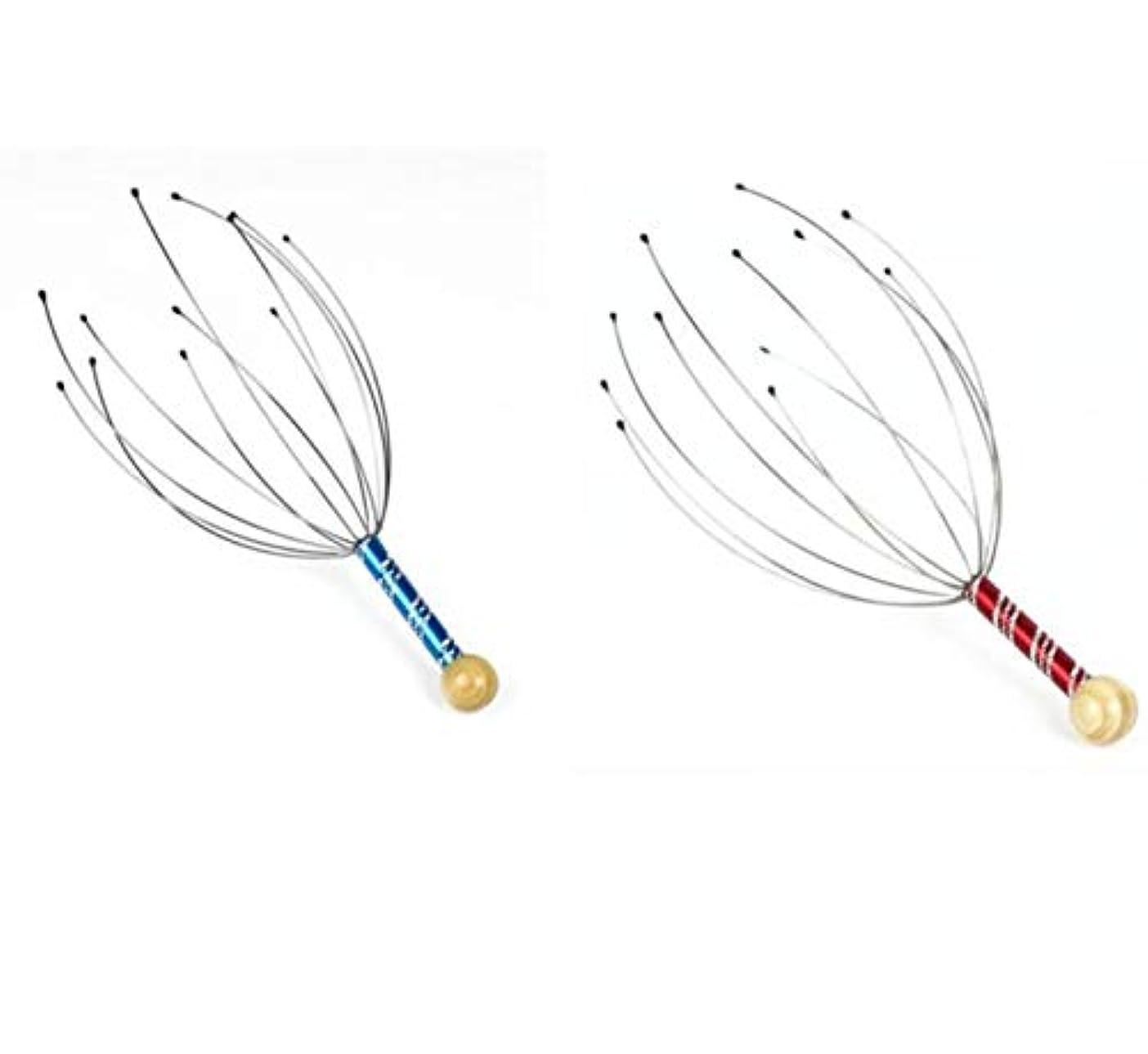 松の木漁師蒸し器[ASPALAND] 頭皮 ヘッド マッサージャー 頭部 マッサージ 2本 セット ヘッド スパ 刺激