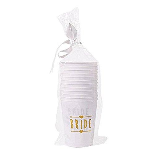 ( 12パック)花嫁と花嫁Tribeカップホワイト–For独身、ブライダル、& Henパーティ