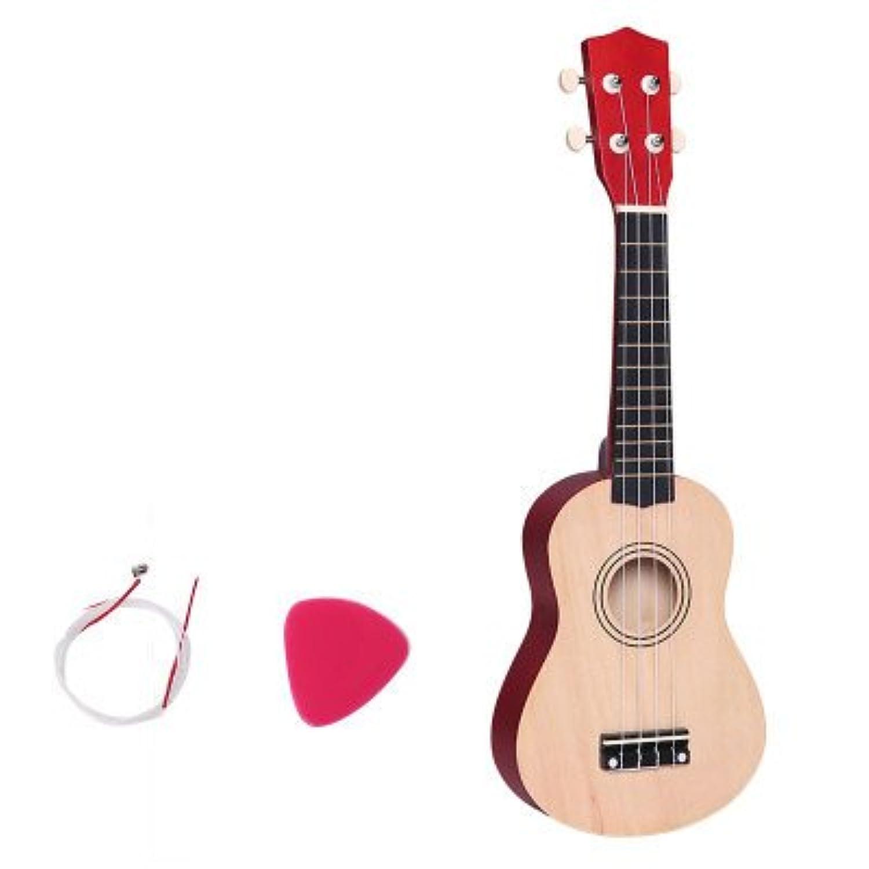 【ノーブランド品】子供用 ギター ウクレレ 木製 12color ukulele ハワイ 子供用 3点初心者セット入門モデル 初心者 音が鳴る 可愛い 誕生日プレゼント 53cm 楽器玩具 初めてのギター