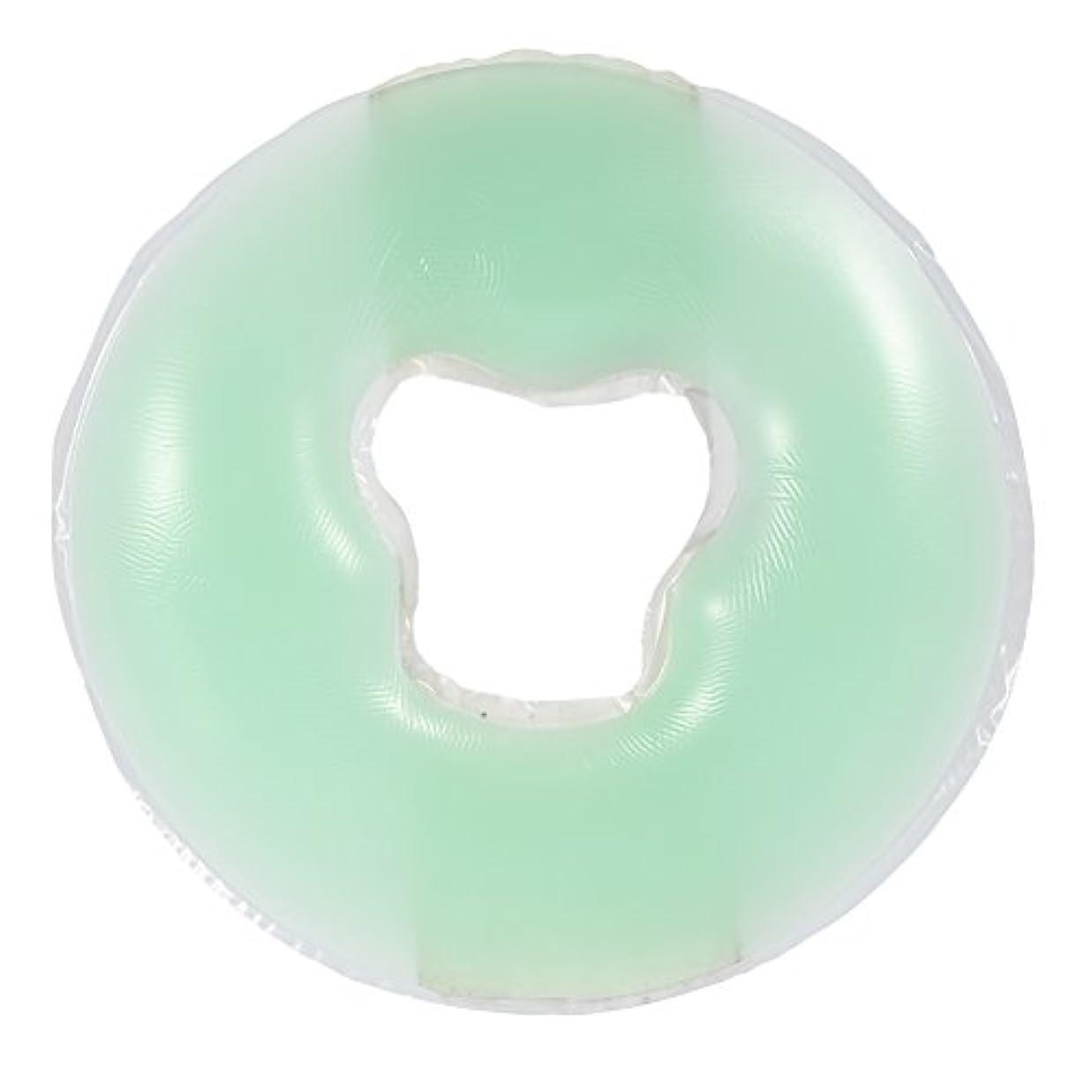 4色シリコンピローマッサージ美容スキンケアソフトオーバーレイフェイスリラックスクレードルクッションパッド(浅绿色)