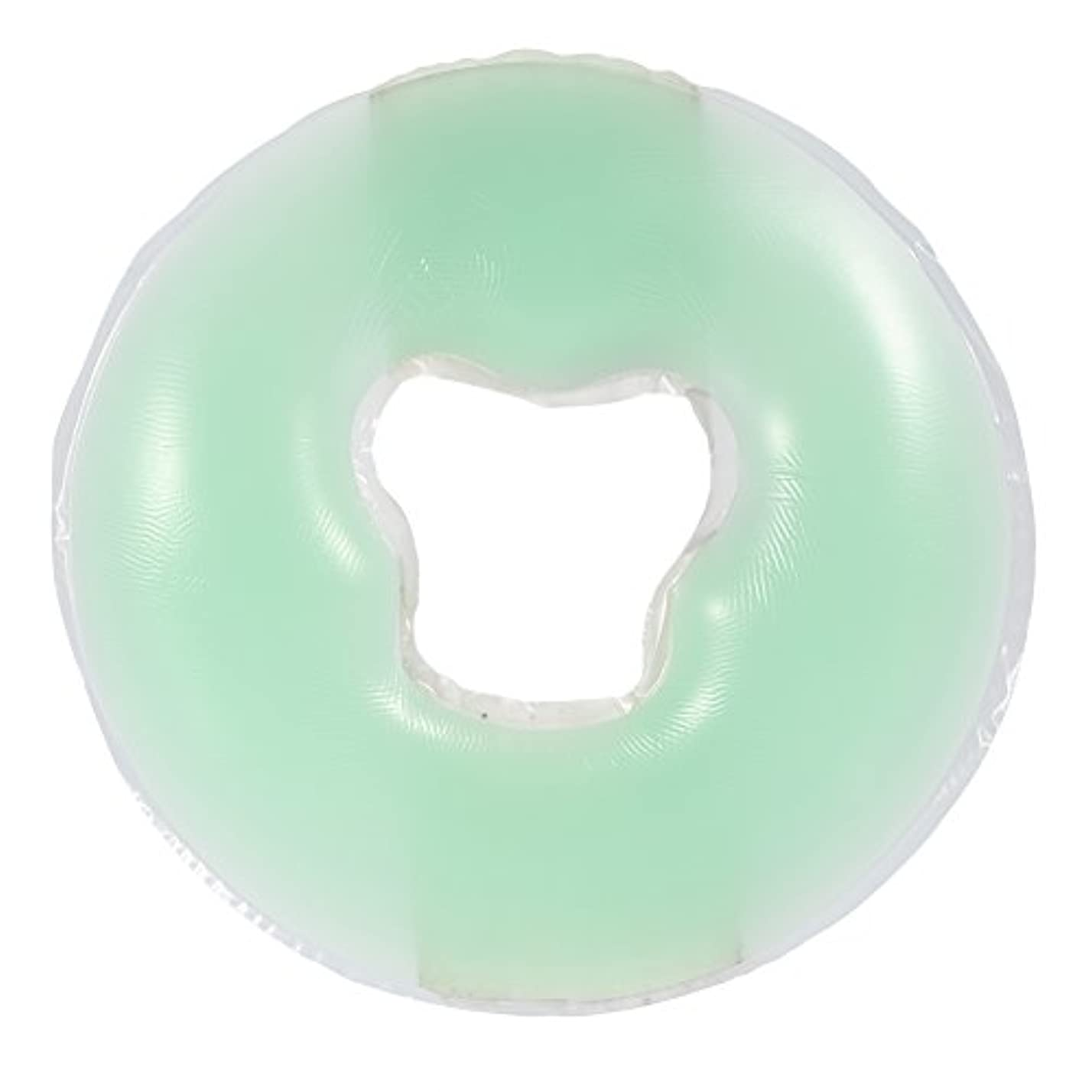 偏見脚本子犬4色シリコンピローマッサージ美容スキンケアソフトオーバーレイフェイスリラックスクレードルクッションパッド(浅绿色)
