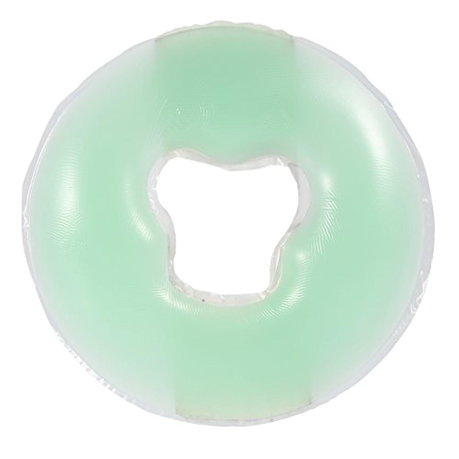 お客様反発粉砕する4色シリコンピローマッサージ美容スキンケアソフトオーバーレイフェイスリラックスクレードルクッションパッド(浅绿色)