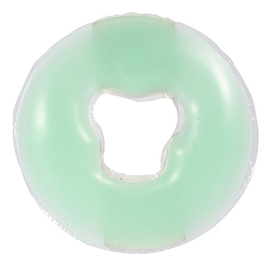 標準介入する故意の4色シリコンピローマッサージ美容スキンケアソフトオーバーレイフェイスリラックスクレードルクッションパッド(浅绿色)
