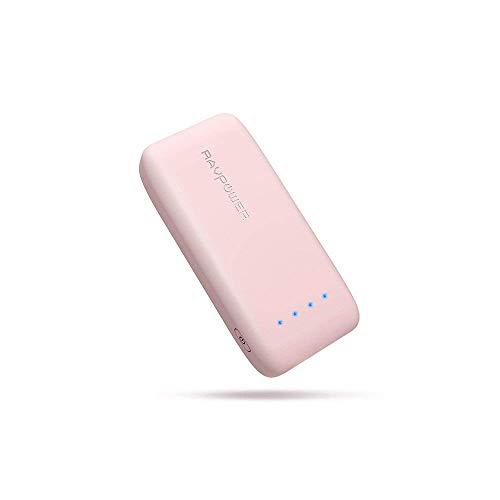 RAVPower 6700mAh モバイルバッテリー 急速充電 (最小 最軽量 /2018年11月時点) iPhone/Andorid 等対応 携帯充電器 ポータブル充電器 18ヶ月間安心保証 iSmart2.0機能搭載 PSE認証済み RP-PB060 (桜ピンク)