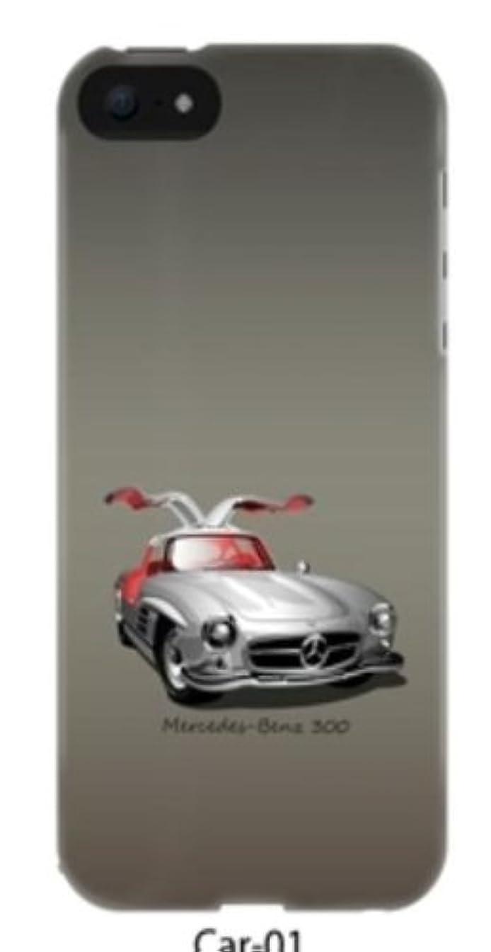 避難する乞食列挙するREARTH iPhone5対応 【イラストデザインケース ストラップホール付】 CAR01 IP5 GRAY