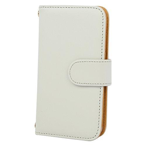 [スマ通] XPERIA X F5121 / F5122 スマホケース スマホカバー 携帯ケース 携帯カバー 手帳型 本革 ホワイト SONY ソニー エクスペリア エックス SIMフリー 海外端末
