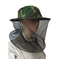【ノーブランド品】農作業用 蚊・ハチ 虫除け帽子 ガーデニング アウトドア