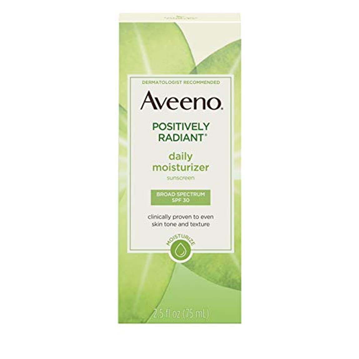 歯痛モノグラフモールAveeno Active Naturals Positively Radiant Daily Moisturizer SPF-30 UVA/UVB Sunscreen 73 ml