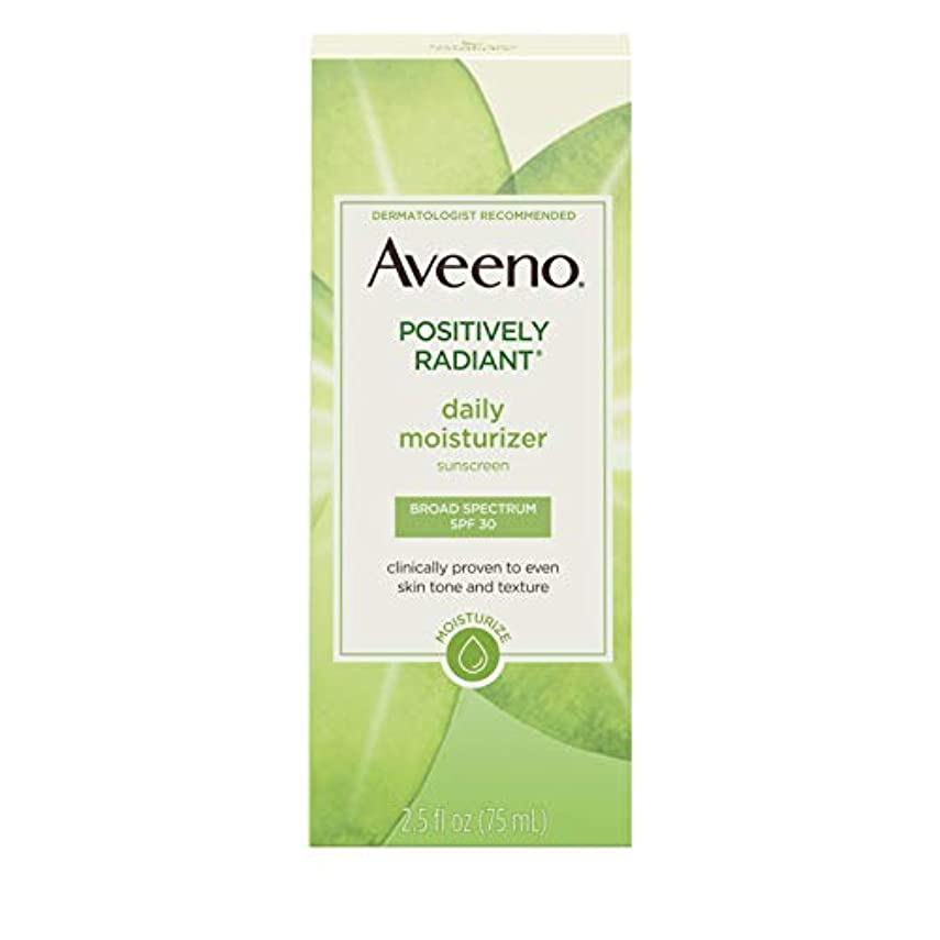 衰える余剰順応性Aveeno Active Naturals Positively Radiant Daily Moisturizer SPF-30 UVA/UVB Sunscreen 73 ml