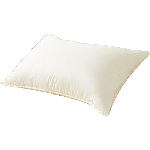 枕 ウォッシャブル 洗える 清潔 63×43cm アイボリー