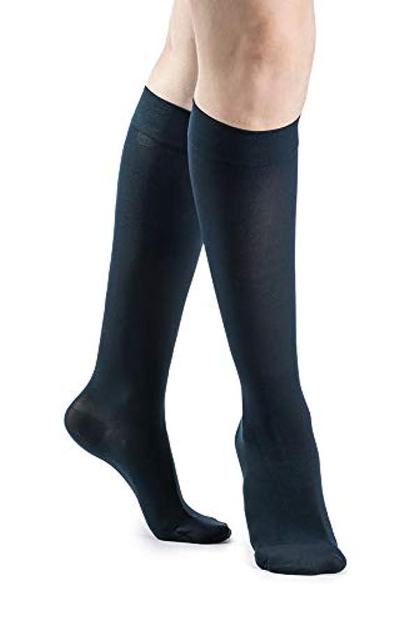 受け入れた不適信念Sigvaris 842C Soft Opaque 20-30 mmHg Closed Toe Knee Highs Color Midnight Blue 09, Size: Large Long (LL) by Sigvaris