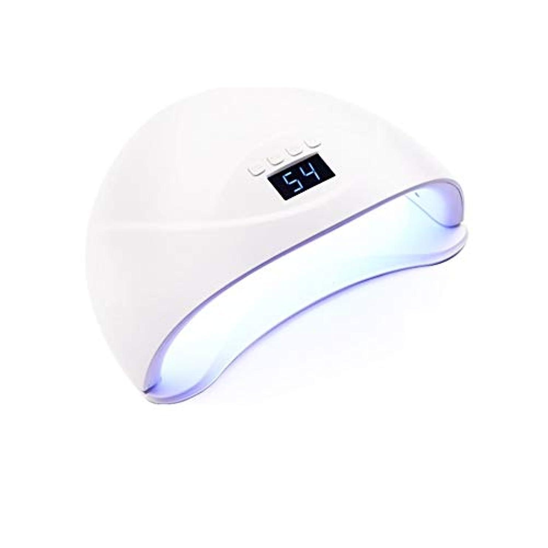 節約日光持続的LittleCat ネイルネイルLEDランプ電力54ワットライトセラピー機ドライヤー (色 : American standard flat plug)