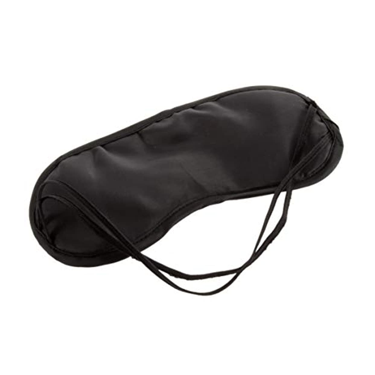 いつも人類凝縮するアイマスク快適な睡眠用マスク安静時の旅行おしゃれな男性女性旅行睡眠補助アイマスクアイパッチ - 黒